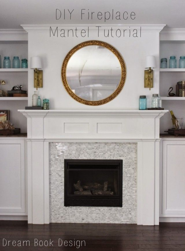 Diy fireplace mantel tutorial fireplace mantles mantle for Design your own fireplace