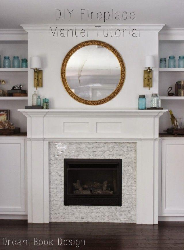 Diy Fireplace Mantel Tutorial Diy Fireplace Diy Fireplace