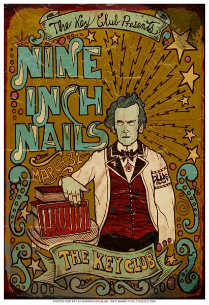 Nine Inch Nails> Killer illustration & type poster!