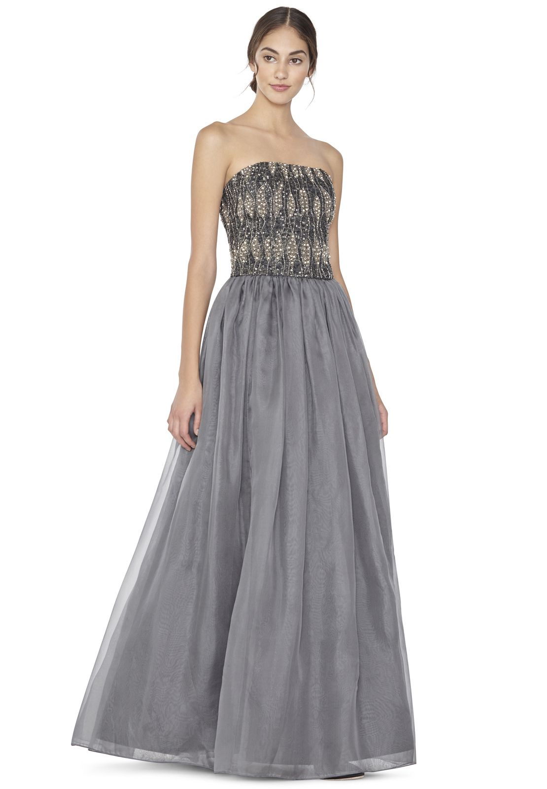 Women\'s Gray Abella Long Ball Gown Skirt | Olivia d\'abo, Gray and ...