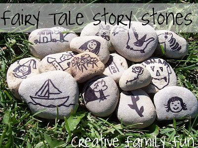 Learn the art of story-telling with fun (and easy to make) fairy tale story stones.