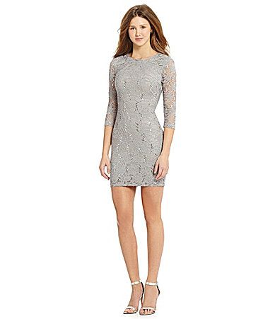 2c166d17c27 B Darlin 34Sleeve Sequin Lace Dress  Dillards Winter Formal