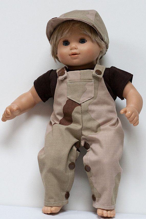 Bitty Baby Boy Doll Clothes Camo Overalls T by ...