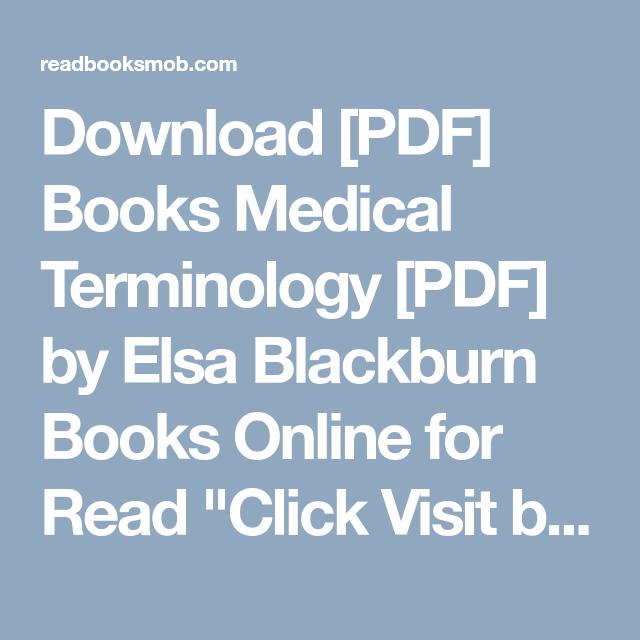 Download Pdf Books Medical Terminology Pdf By Elsa Blackburn