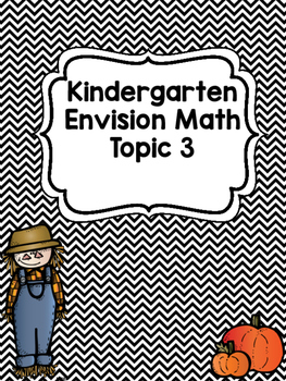 Kindergarten Envision Math Topic 3 Worksheets | Kinder Math ...