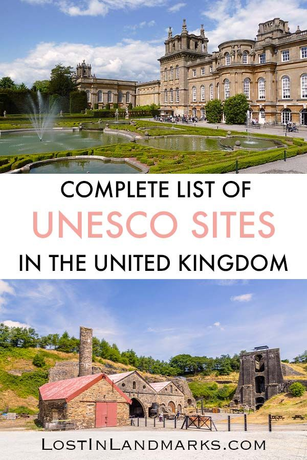 A complete list of UNESCO world Heritage sites in the UK. We're talking ancient sites like Stonehenge to Victorian Mills, mining history and even abandoned islands. This covers UNESCO sites in Scotland, England, Wales and Northern Ireland. Perfect for any lovers of history who are traveling to Britain and would like to visit these beautiful historic sites. UK historic sites | UK world heritage sites | UNESCO sites in UK