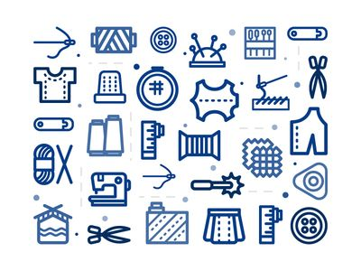 Free needlework and sewing Icons