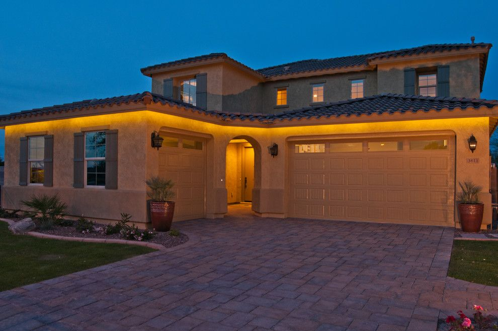 Beautiful Led Strip Lights Convention Phoenix Mediterranean Exterior  Decorating Ideas With Eves Front Front Of House