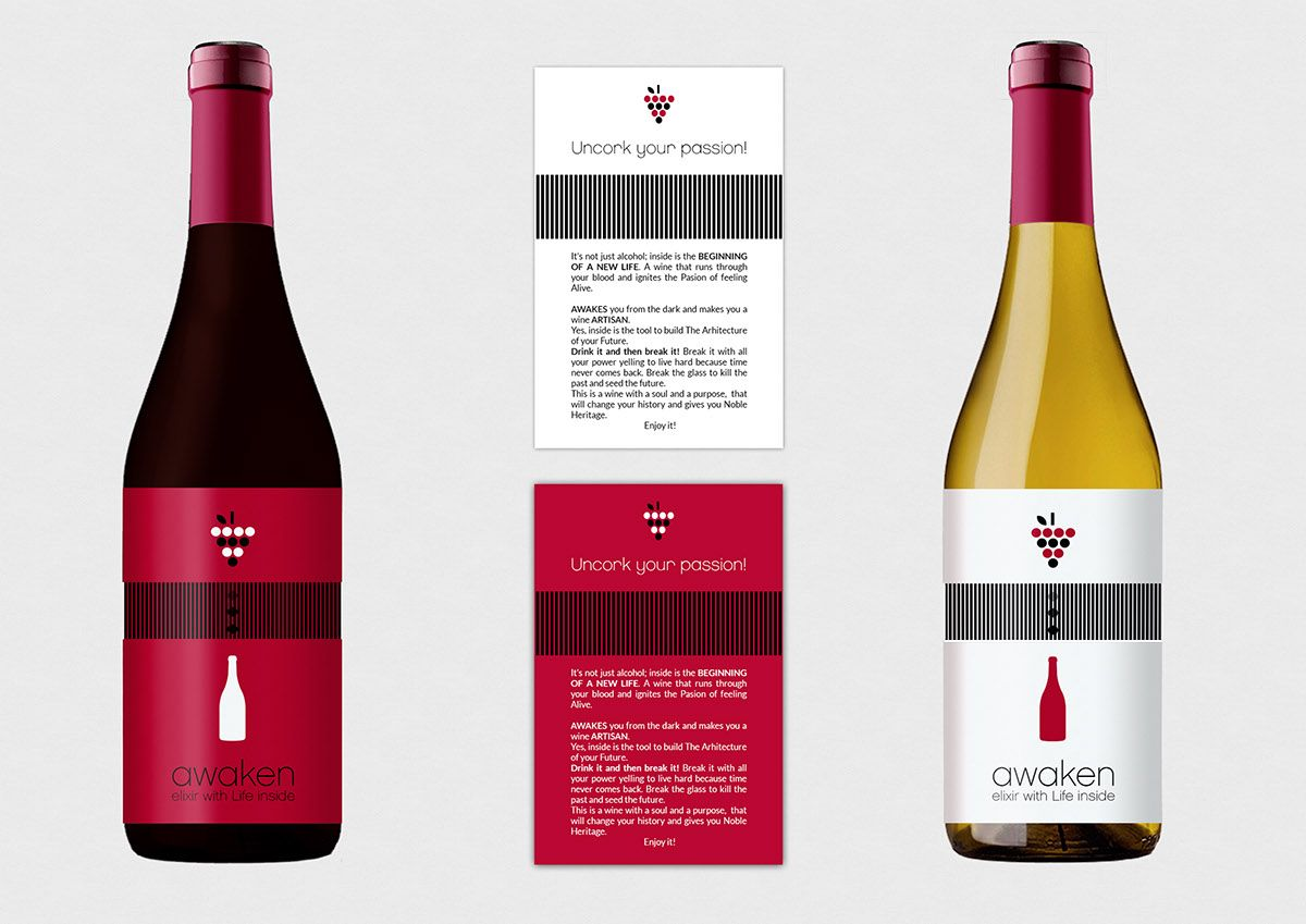 First Creatives Wine Land Project Done While Studying At The Alternative School For Creative Thinking Wine Bottle Rose Wine Bottle Wine