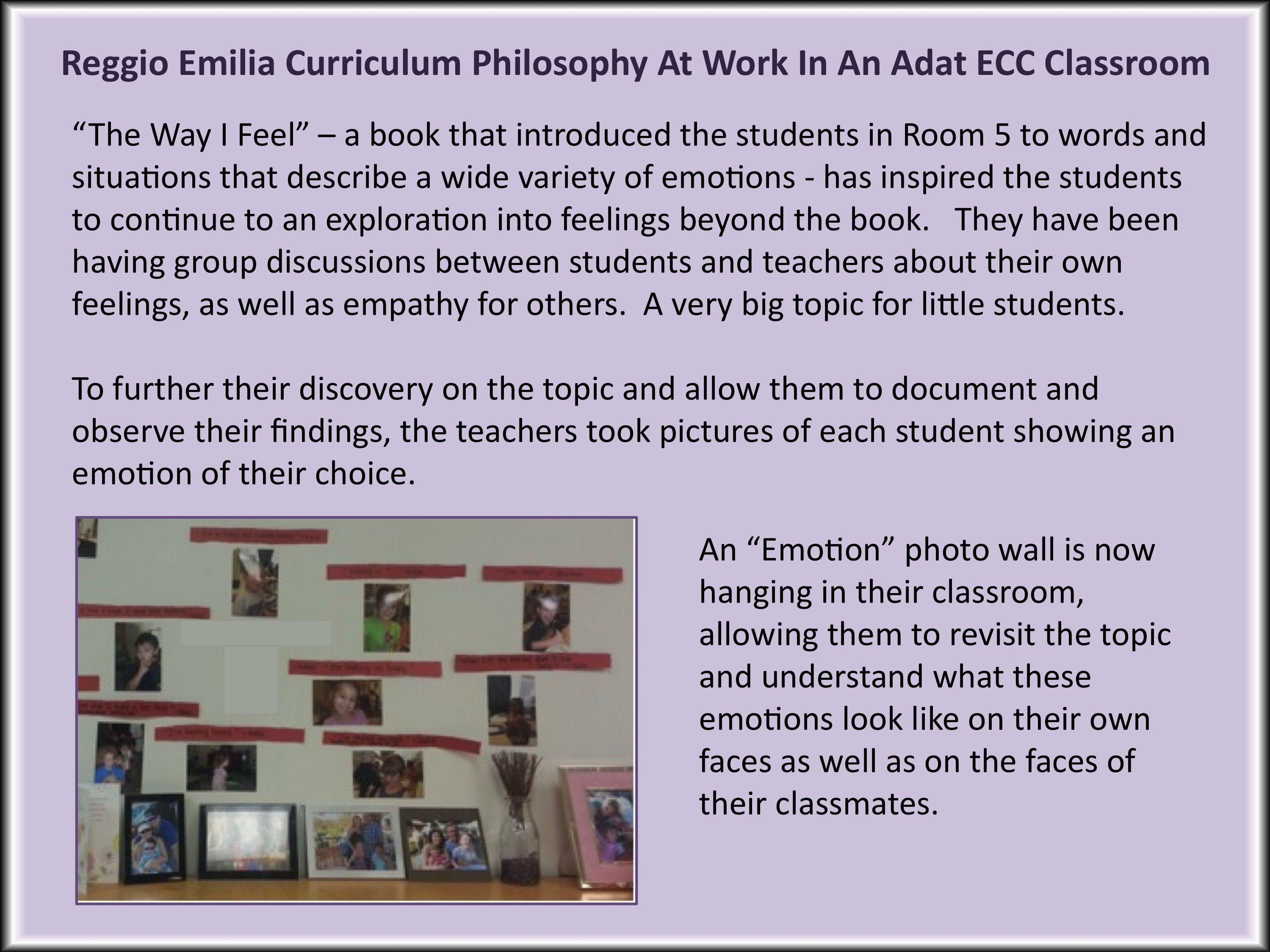 This Is An Example Of Many Reggio Emilia Curriculum Philosophies