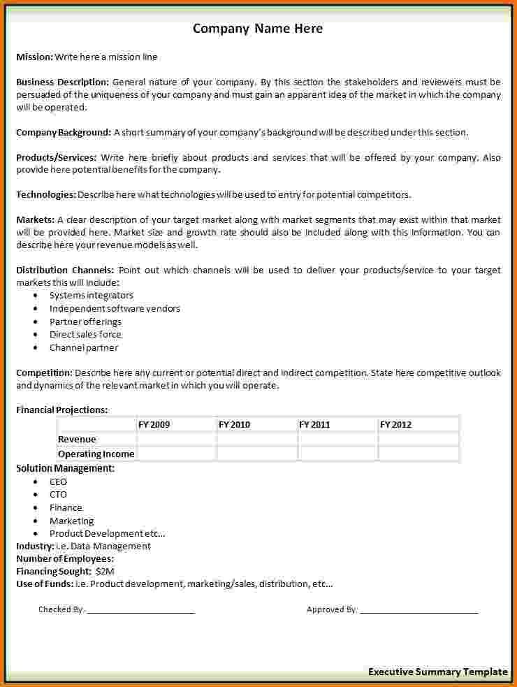 Executive Summary Sample Templateg Resume Example With  Home Design