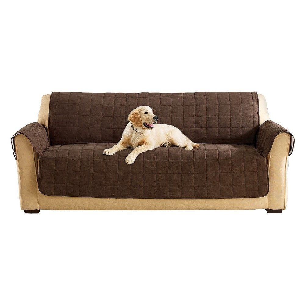 Sofa Waterproof Cover Automatic Recliner India Ultimate Suede Furniture Chocolate Brown Sure Fit