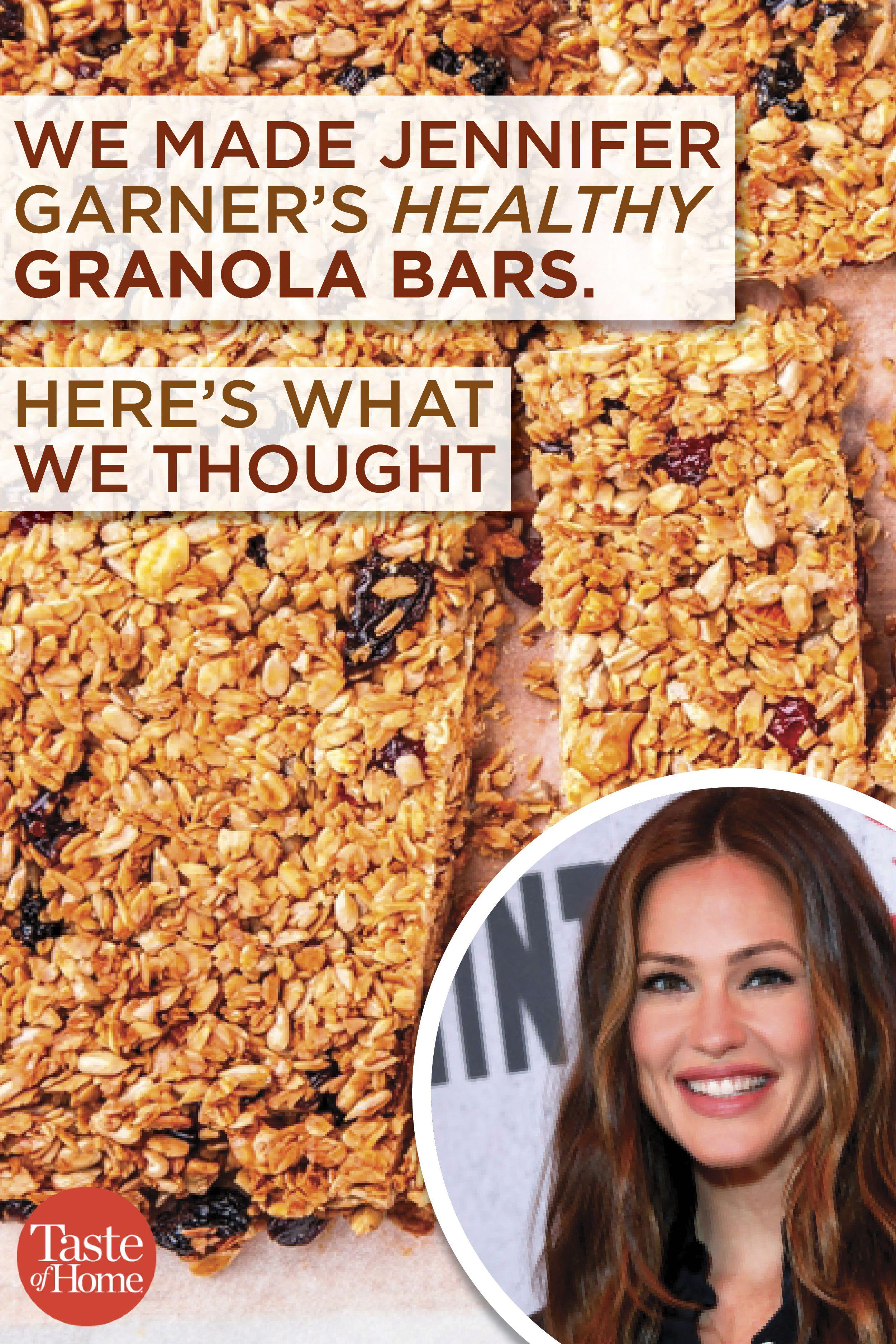We Made Jennifer Garner's Healthy Granola Bar Recipe | Food