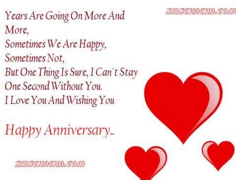 Boyfriend Girlfriend Happy Wedding Anniversary Hearts Love Husband Wife