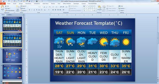 Free weather forecast powerpoint template denenecek tarifler free weather forecast powerpoint template toneelgroepblik Choice Image