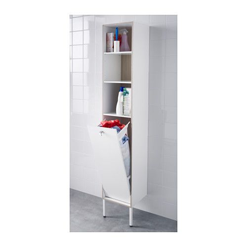 IKEA TYNGEN Laundry Cabinet White/ash Effect Cm Suitable For A Smaller  Bathroom, As The Cabinet Frame Is Just 30 Cm Wide.
