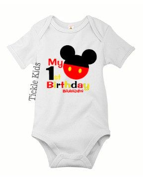 Birthday Shirt Maybe A T Shirt Instead Of Onesie Mickey 1st