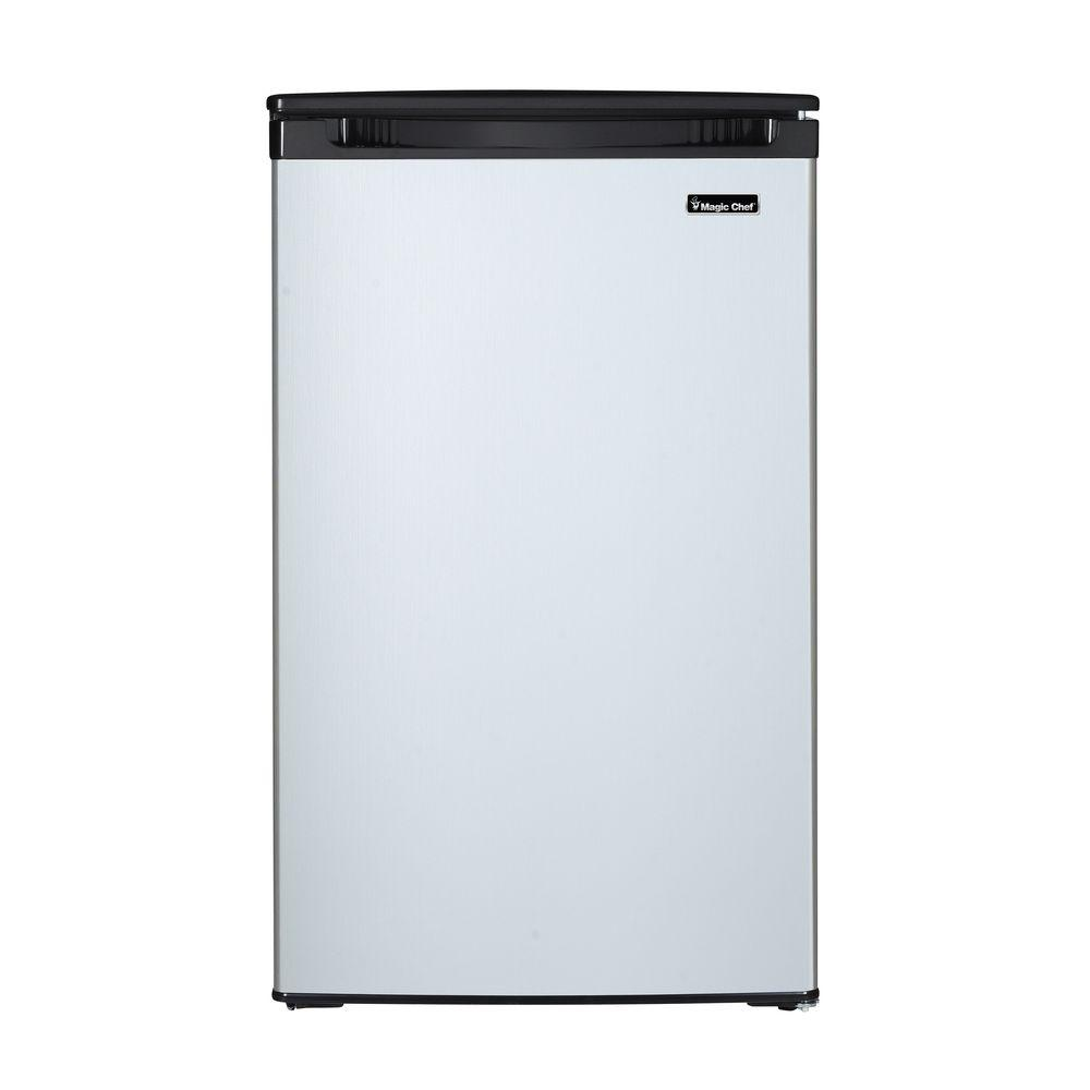 Magic Chef 4 4 Cu Ft Mini Fridge With Freezerless Design In Stainless Steel Hmar440st The Home Depot In 2020 All Refrigerator Magic Chef Mini Fridge
