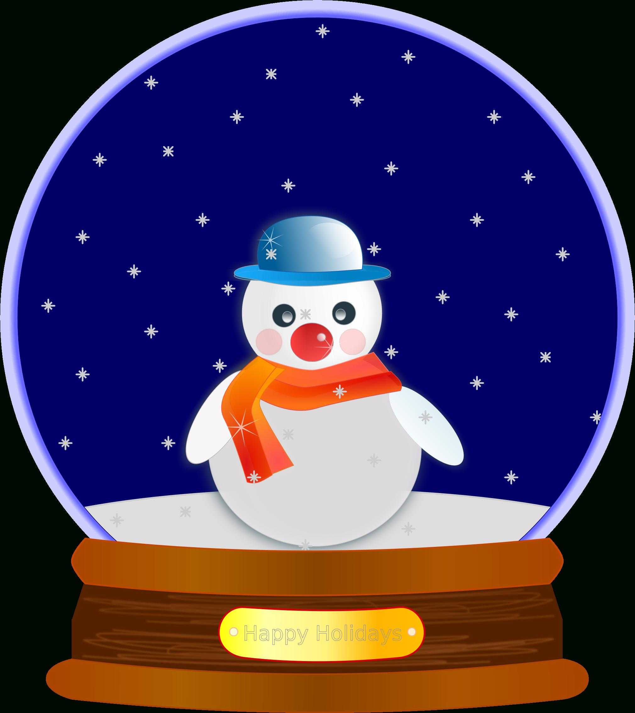 Snow Globe Clipart Globe clipart, Holiday snow globe