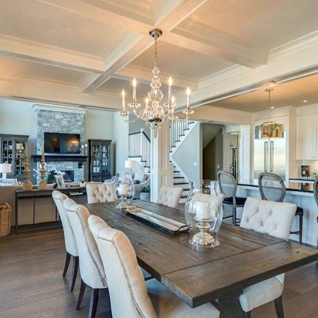 Outstanding Transitional Dining Room Suitable For Any Home: Outstanding Large Dining Room Table Ideas Exclusive On