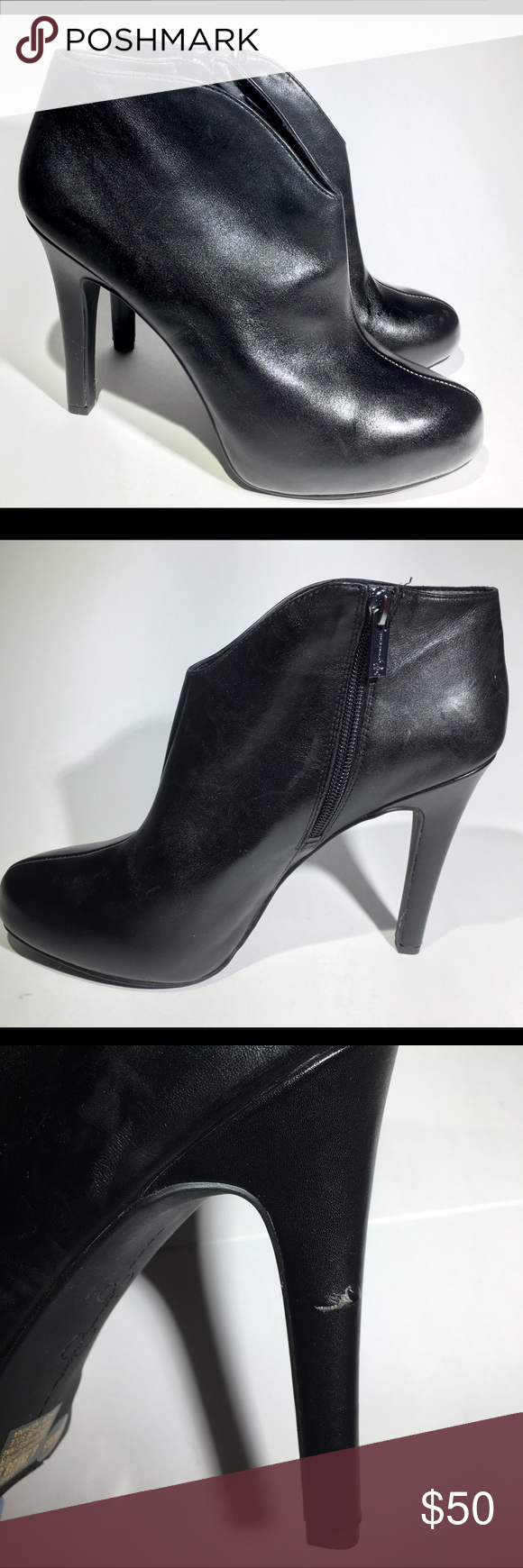 Jessica Simpson Adana Black Heels Size 9 Comes Without Tags Or Box Soft Blemishes On Heels Due To Shelf Life Color Black Tan In Black Heels Kitten Heel Pumps Bootie Boots