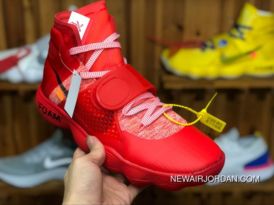 0bc6e25e640a Virgil Abloh Off-White X Nike REACT Hyperdunk Surgeon Red 2017 Big Red Black-Orange  AJ4578-102 Super Deals