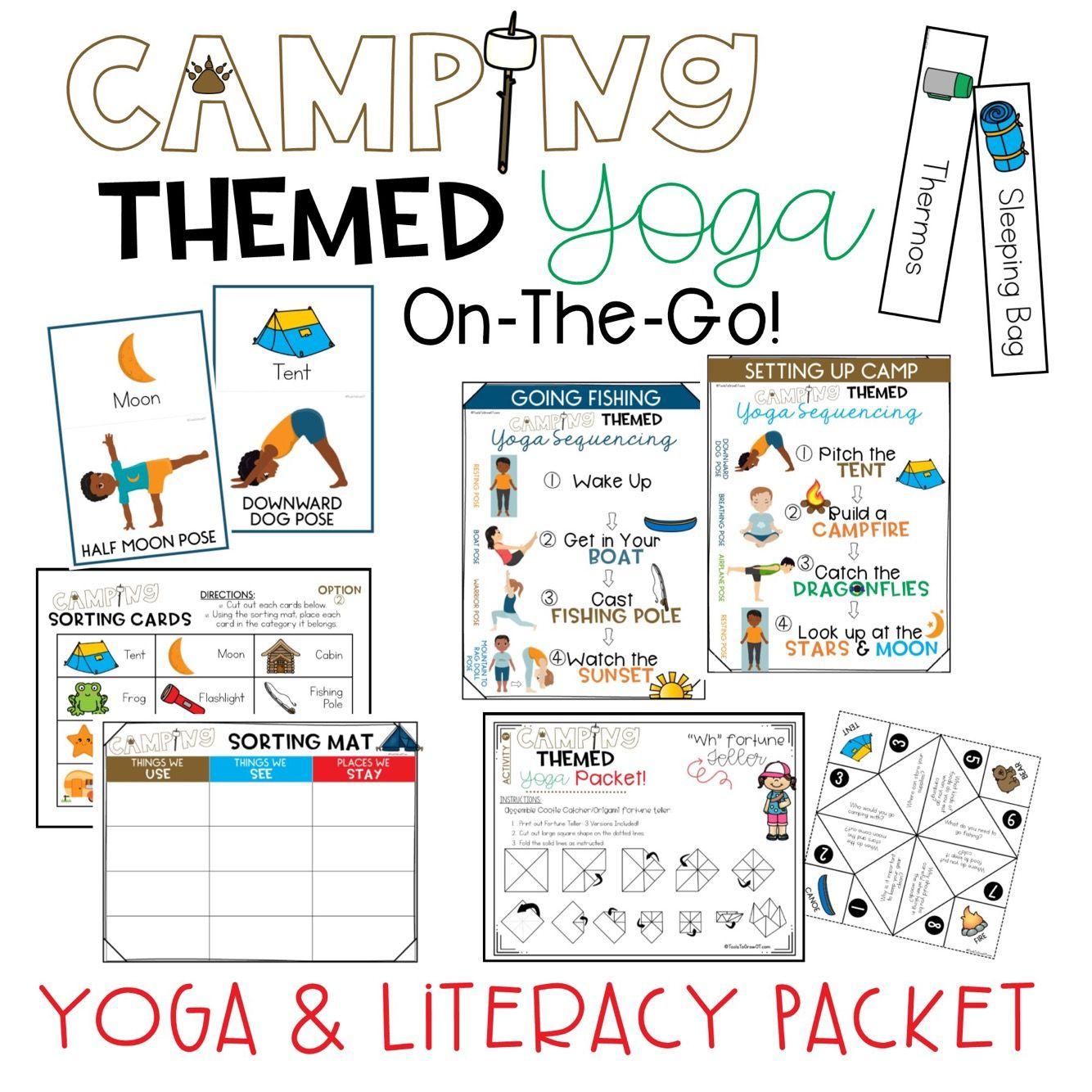 Camping Yoga Amp Literacy Packet
