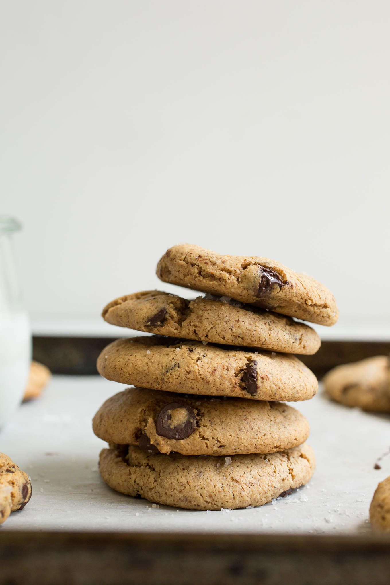Almond Butter Chocolate Chip Cookies Gluten Free Vegan