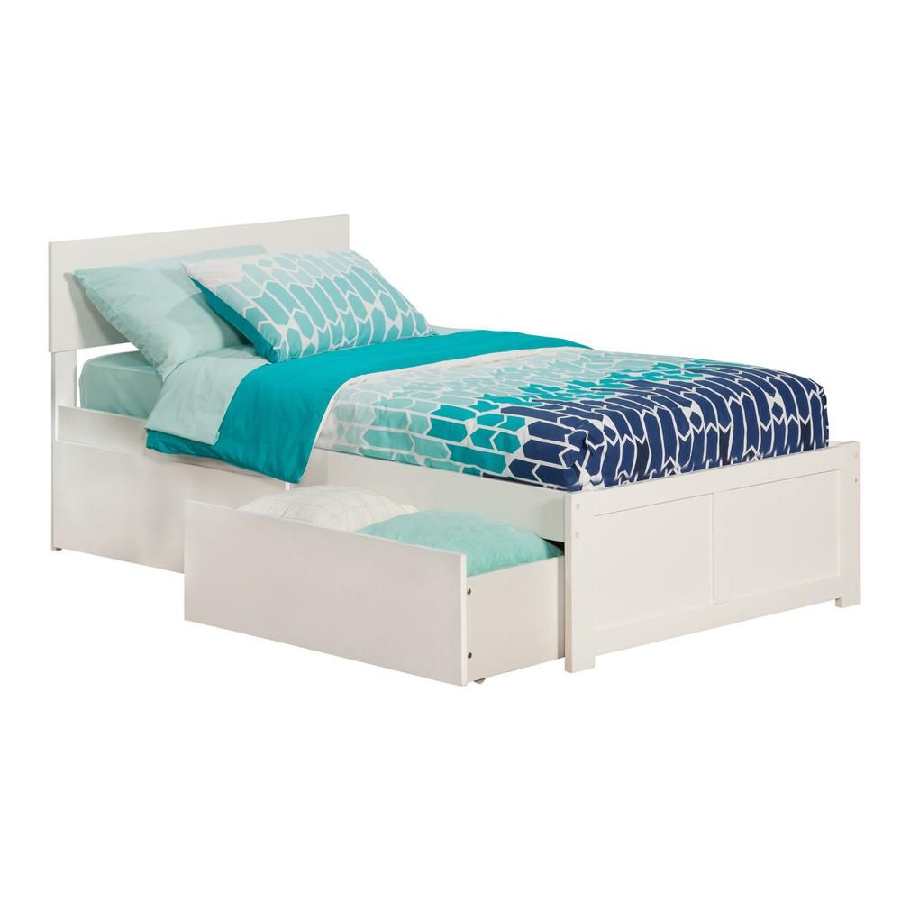 Atlantic Furniture Orlando Espresso Queen Platform Bed With Flat