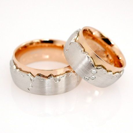 Ehering Trauring In Weissgold Rotgold 750 Ring