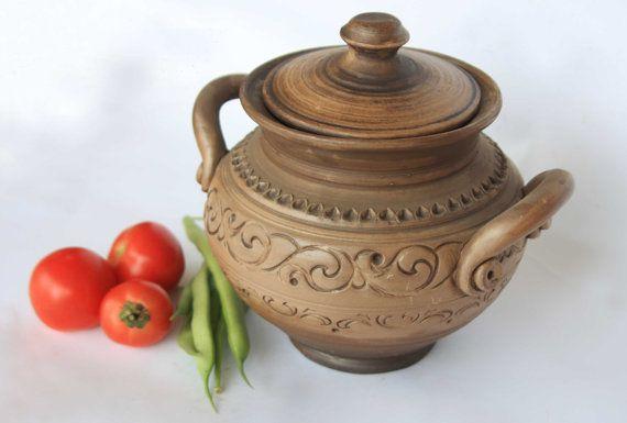 Ceramic Pot With Lid Redware Bakeware Pot Hand By Smilingalligator Ceramic Bakeware House Warming Gifts Ceramics
