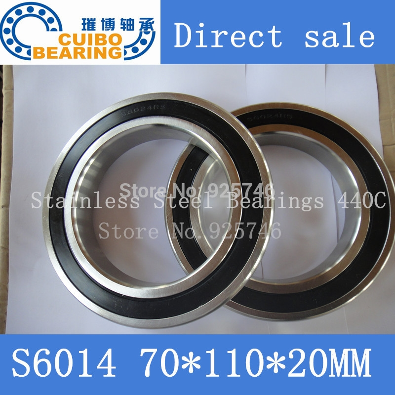 (40.00$)  Buy here - http://aimuy.worlditems.win/all/product.php?id=32292834140 - Free Shipping 1PCS S6014 2RS Stainless Steel Bearing 70x110.x20 Miniature 6014 RS  Ball Bearings S6014