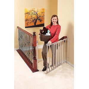 Walmart Evenflo Secure Step Metal Top Of Stairs Gate Top Of Stairs Gate Stair Gate Baby Gates