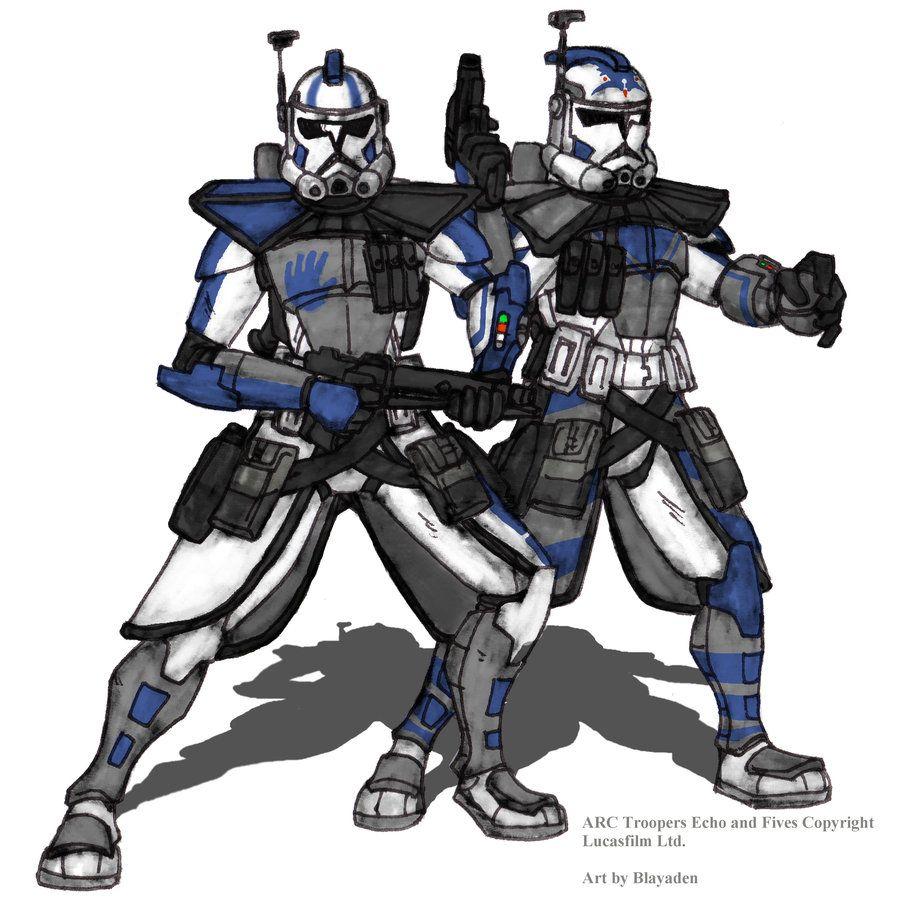 ARC Troopers Echo and Fives Colored by Blayaden.deviantart.com on @deviantART
