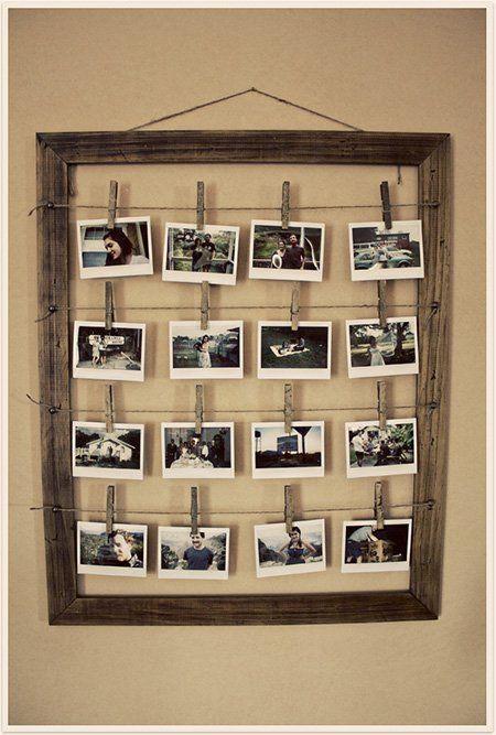 marco de fotos casero para varias fotografias   Fiestas   Pinterest ...