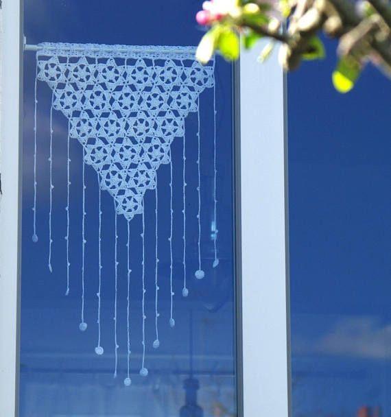 23 patron tutoriel de rideaux brise bise au crochet crochet pour la maison accessoires au. Black Bedroom Furniture Sets. Home Design Ideas