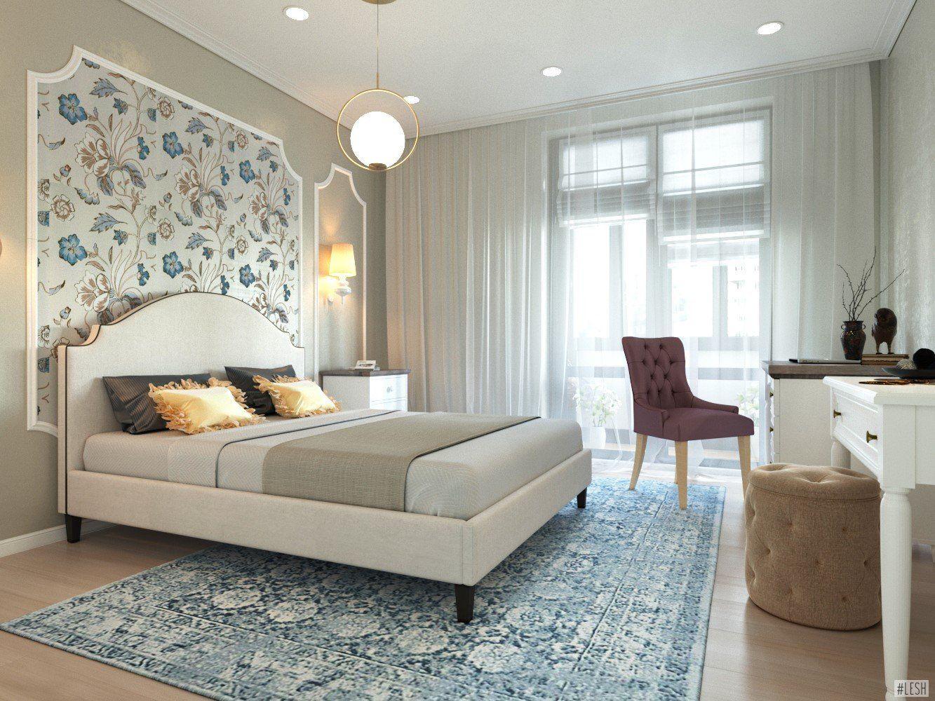 оформление зоны кровати в спальне фото