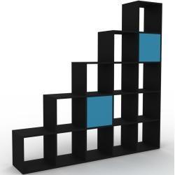 Photo of Regalsystem Schwarz – Flexibles Regalsystem: Türen in Blau – Hochwertige Materialien – 195 x 195 x 3