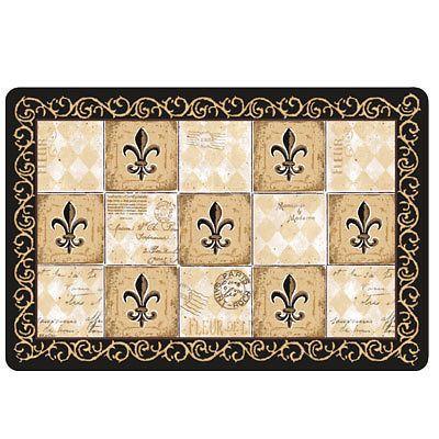 New Majestic Fl De Lis Kitchen Comfort Mat Doormat Rug Kay