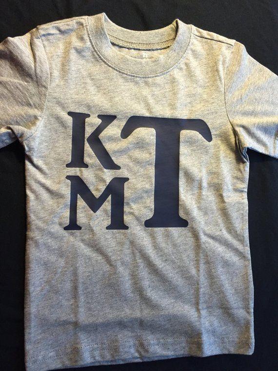 8bf531cbf Boys Monogram T-Shirt. Toddler Monogram Shirt