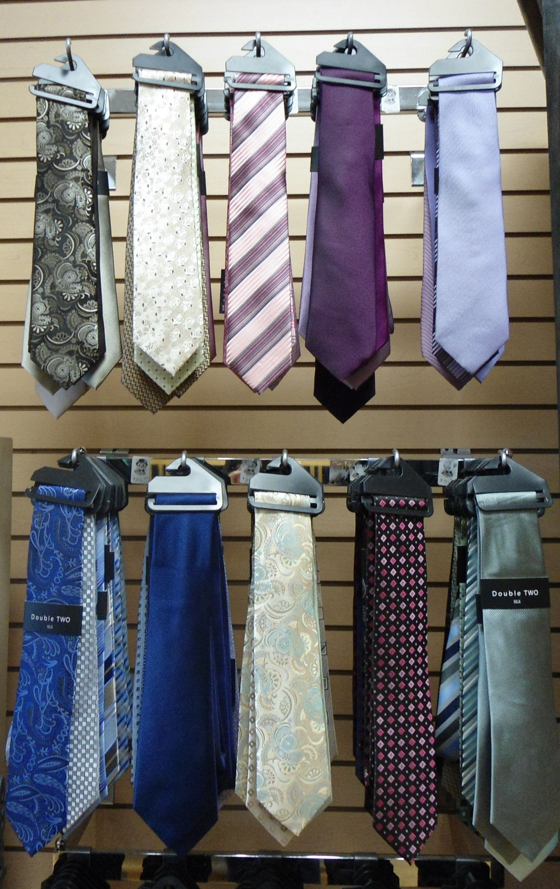 Silk ties available at Winston's Men's Wear.