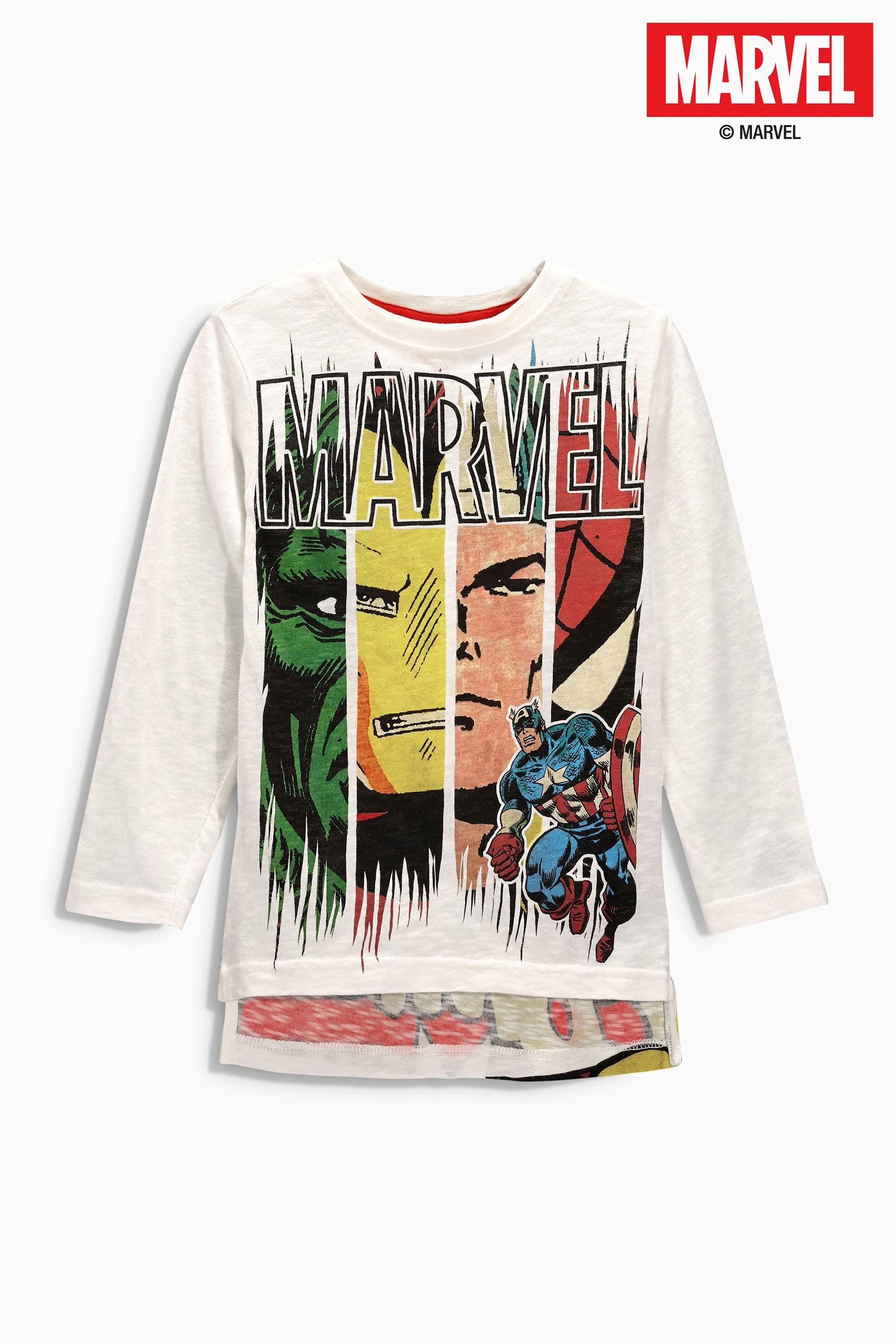 0a0c1a75f Buy Ecru Marvel Long Sleeve Top (3-16yrs) from the Next UK online shop