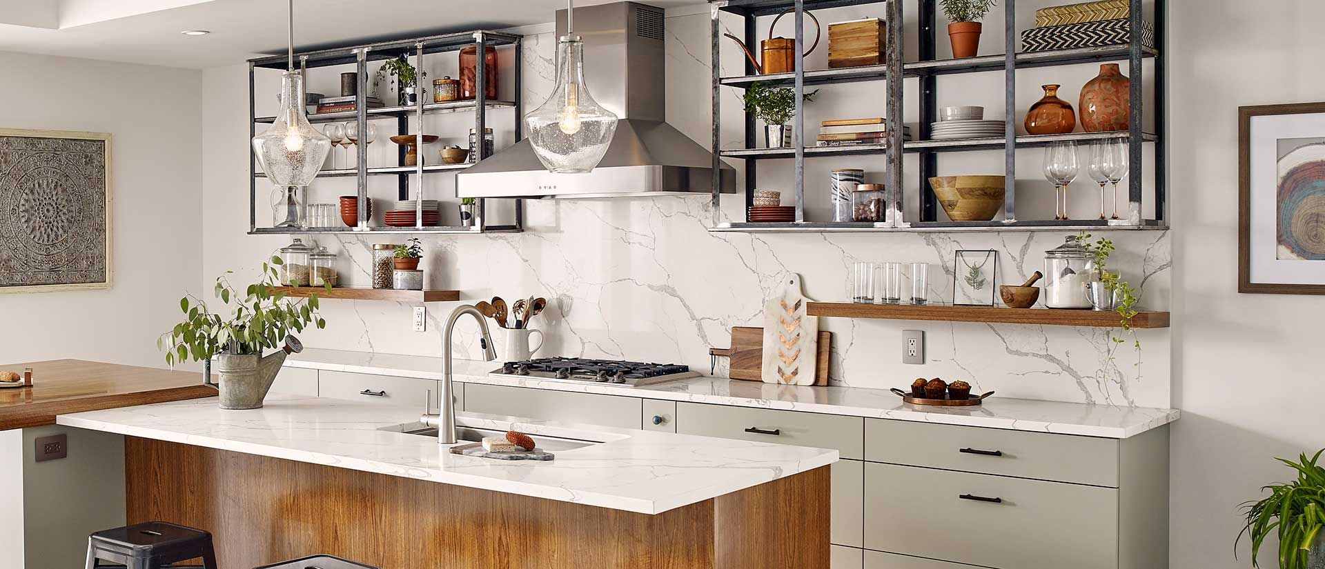 Best Calacatta Laza Quartz Countertops Q Premium Natural 400 x 300