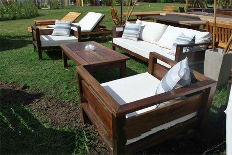 Comprar sillones fijos para galeria y jardin proyectos for Sillones de jardin de madera