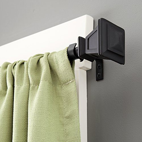 Pin By April Overby On Living Sitting Room Window Curtain Rods Curtain Rods Black Curtain Rods