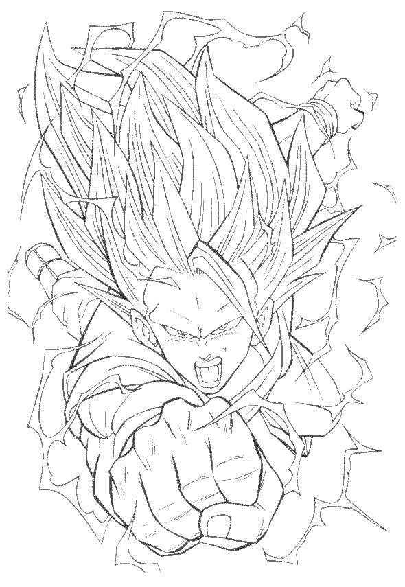 Dragon Ball Z Imagenes para Colorear | Dragon ball, Dragons and Goku