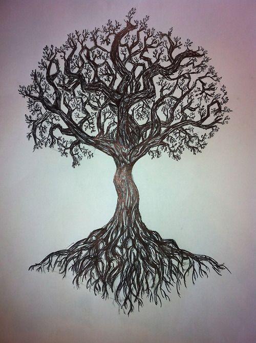Tree Tattoo Tumblr Tatuagem Arvore Tatuagem De Raizes De