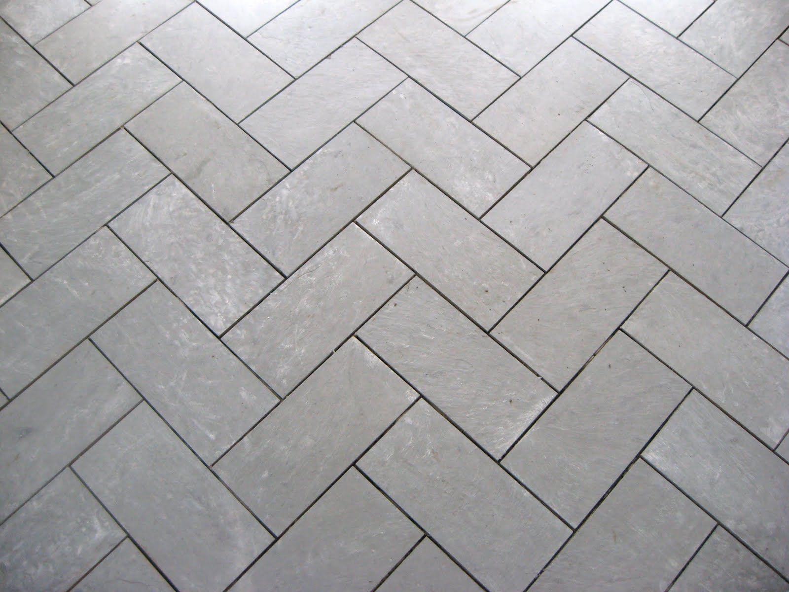 Girl In An Apron Herringbone slate floor for the kitchen