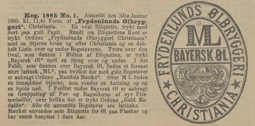 Norges første beskyttelde varemerke