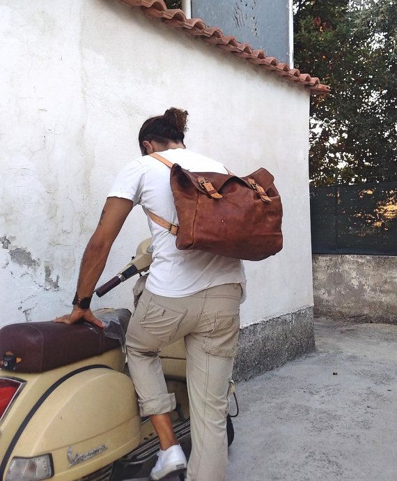 TWL Leather Messenger Bag Santiago Hand di OfficinaitalianaTWL
